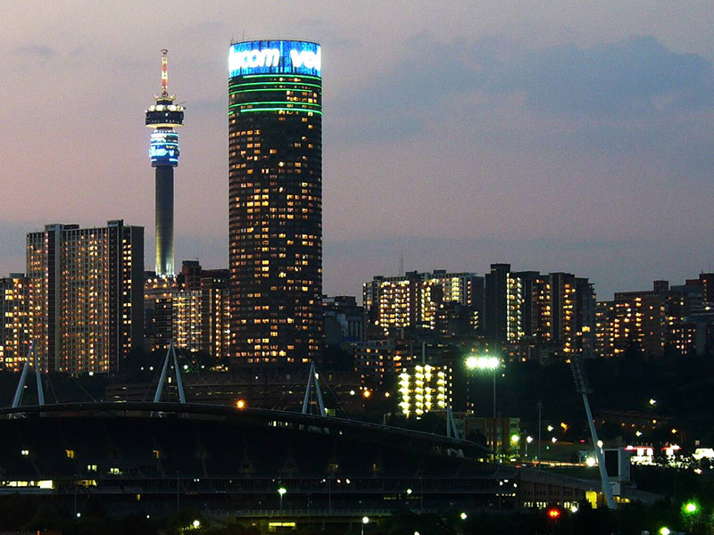 Johannesburg cityscape South Africa