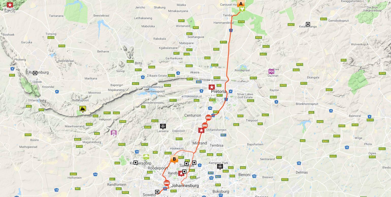 Johannesburg to Kruger Safari